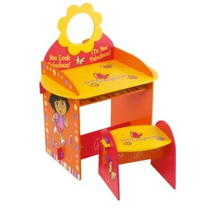 Photo of Dora The Explorer Vanity Desk & Stool Furniture