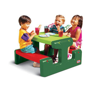 Photo of Large  Picnic Table Evergreen Garden Furniture