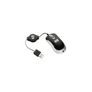 Photo of Ultra Mini Optical Mouse With Retractable Cord Computer Mouse