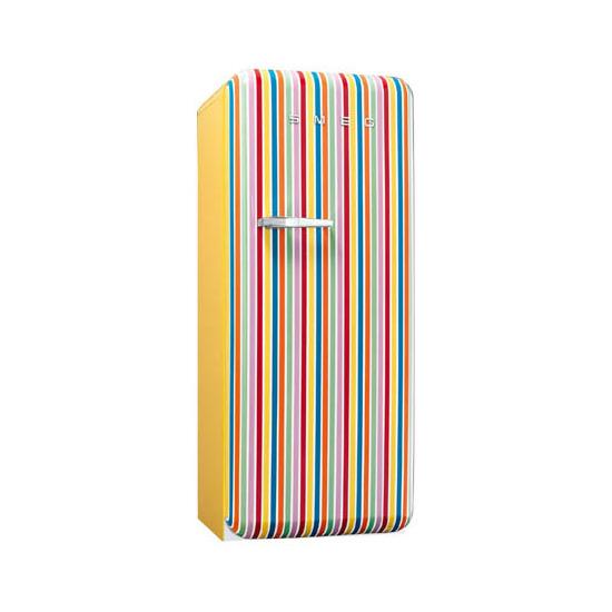 Smeg FAB28QCS 50's Retro Style (Colour stripes + Right Hinge)