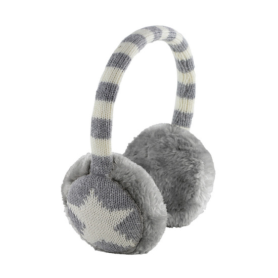 KITSOUND Star Earmuff Headphones - Grey & White