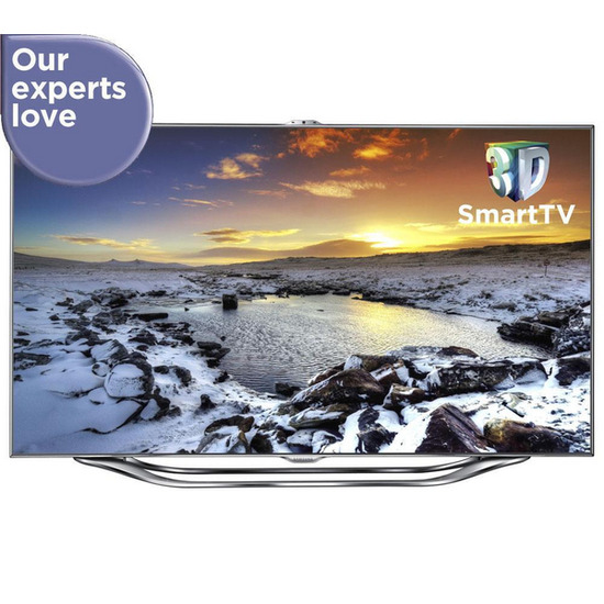 """Samsung UE65ES8000 Full HD 65"""" LED 3D TV with 3D Blu-ray Home Cinema Kit and Stand"""