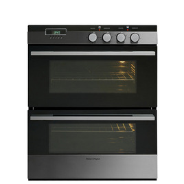 FISHER PAY OB60HCEX Electric Double BUILT-under Oven - Stainless Steel & Black - Trade-in offer