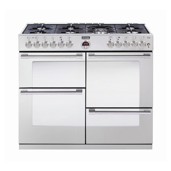 Stoves Sterling 1100DFT Dual Fuel Range Cooker - Stainless Steel - Trade-in offer