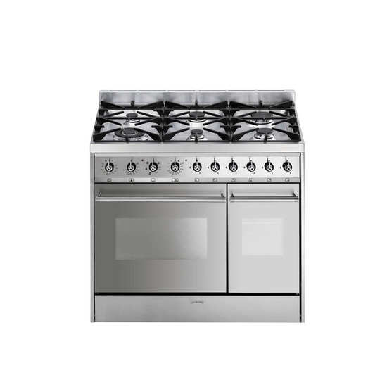 Smeg C92DX8 FSD Dual Fuel Cooker - Stainless Steel - Trade-in offer