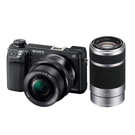 Sony Alpha NEX-6 with 16-50mm and 55-210mm Twin Lens Kit
