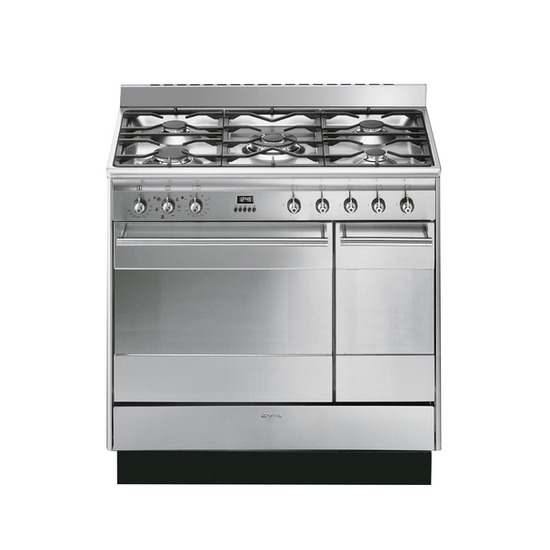Smeg SUK92MX8 FSD Dual Fuel Range Cooker - Stainless Steel - Trade-in offer