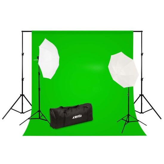 Extra Value Professional Photo Studio Backdrop and Lighting Kit