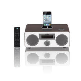SANDSTROM S9DABI12 DAB Clock Radio with iPod Dock - Walnut & White Reviews