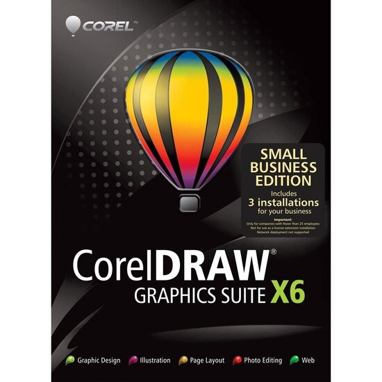 CorelDRAW Graphics Suite X6 - Small Business Edition (3 PC)