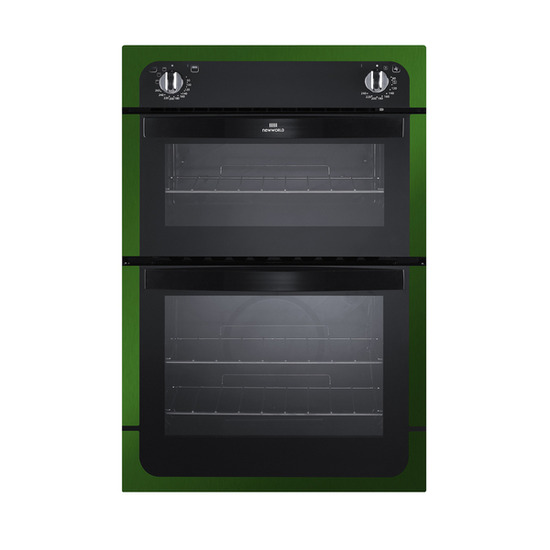New World NW901DO Electric Double Oven - Black & Green