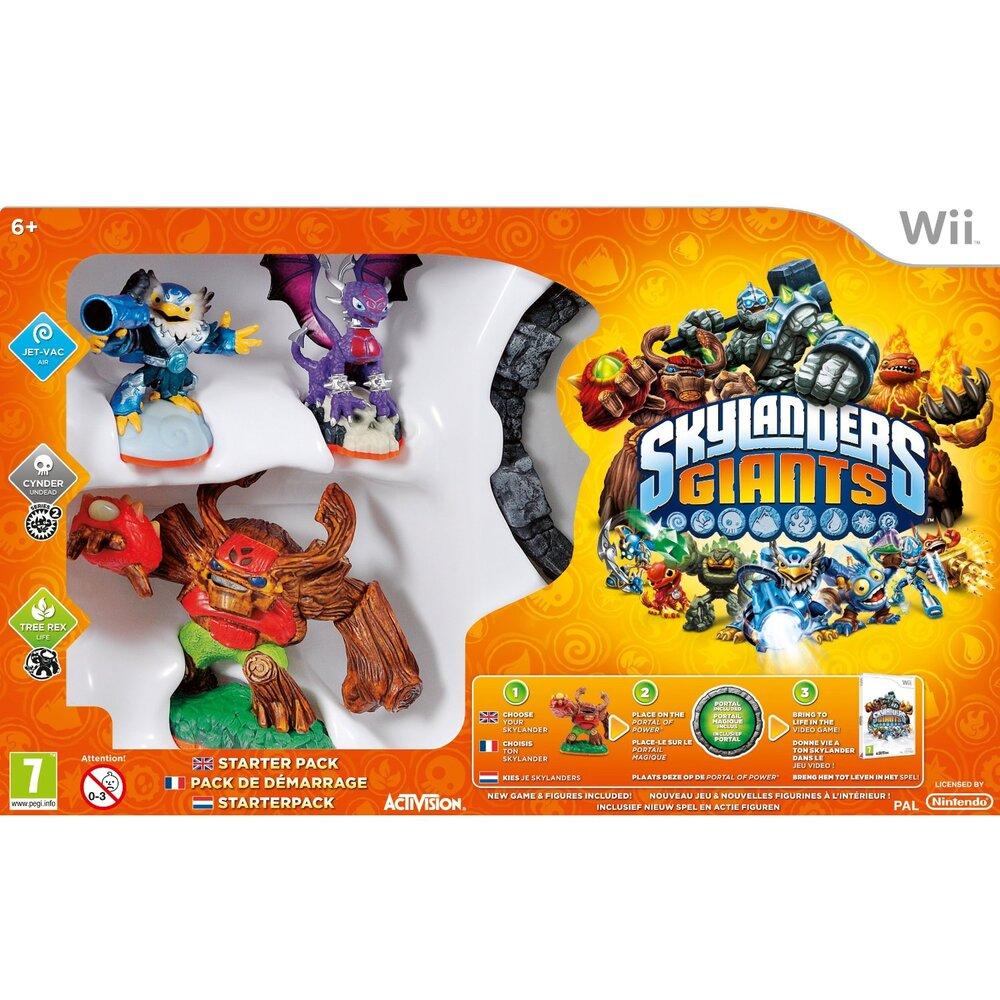 Skylanders Giants Starter Pack Game Portal w// Jet Vac Cynder Tree Rex Wii NEW
