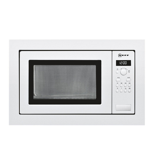 NEFF H56W20W3GB Built-in Solo Microwave - White