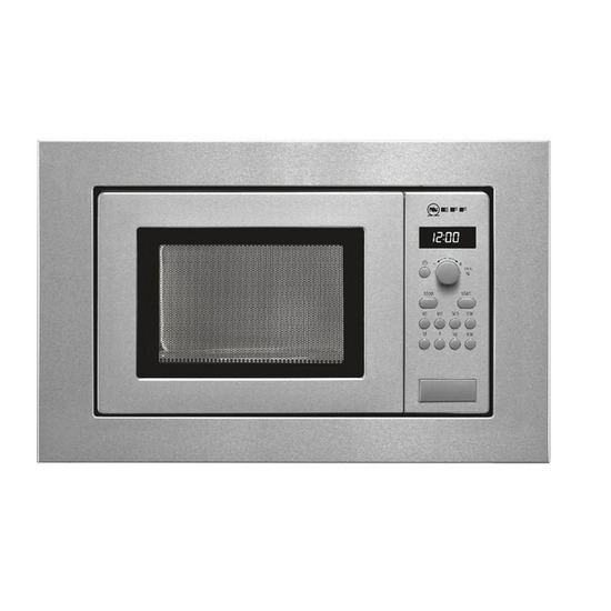 Neff H53W60N3GB Built-in Solo Microwave - Stainless Steel
