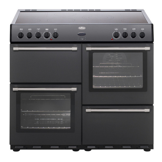 Belling Country Classic 100 Electric Ceramic Range Cooker - Anthracite