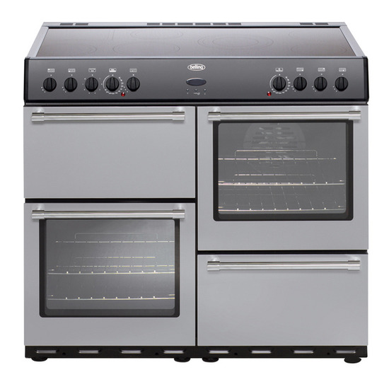 Belling Country Classic 100 Electric Ceramic Range Cooker - Silver