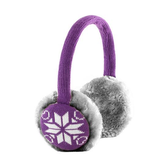 KITSOUND KSMUFSFPU Knit Earmuff Headphones - Purple