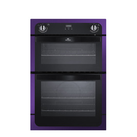 New World NW901DO Electric Double Oven - Black & Purple
