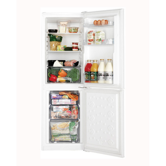 Lec TF50152W White 491mm Wide 1521mm High A Rated 115L Net Fridge 55L Net Freezer Capacity Fridge Freezer