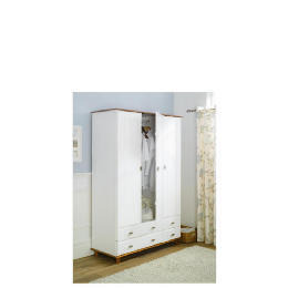 Auckland 3 Door 4 Drawer Robe, White & Pine Reviews