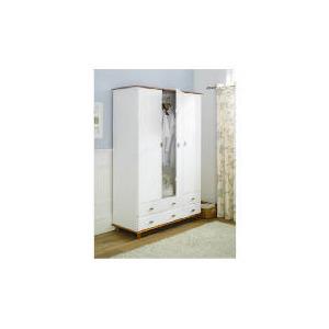 Photo of Auckland 3 Door 4 Drawer Robe, White & Pine Furniture