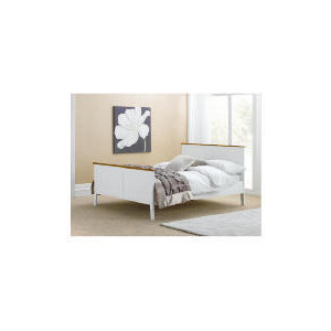 Photo of Auckland Double Bed Frame, White & Pine Bedding