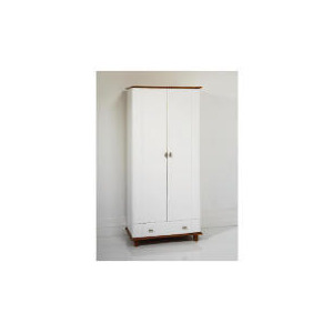 Photo of Auckland 2 Door 1 Drawer Robe, White & Pine Furniture