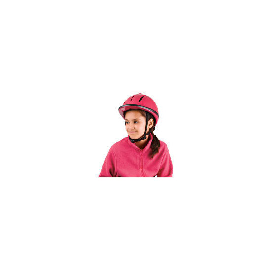 Sports Riding Hat Child High Gloss Pink