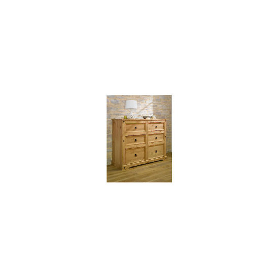 Catarina 6 Drawer Chest, Antique Pine