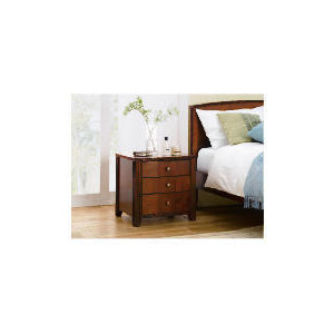Photo of Montrose 3 Drawer Bedside Chest, Cherry Veneer Furniture