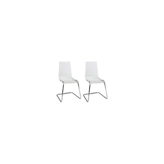 Pair of Lotus Chairs, Clear