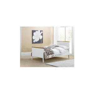 Photo of Auckland Single Bed Frame, White & Pine Bedding