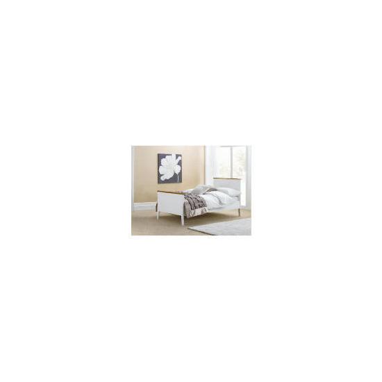 Auckland Single Bed Frame, White & Pine