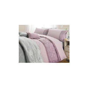 Photo of Tesco Elise Embroidered Duvet Set Double, Heather Bed Linen