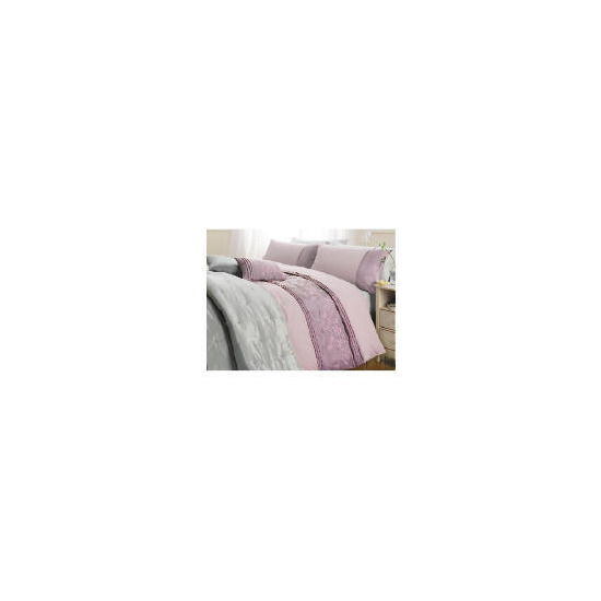 Tesco Elise Embroidered Duvet Set Double, Heather