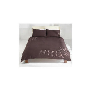 Photo of Tesco Retro Stitch Emb Duvet Set Kingsize, Mocha Bed Linen