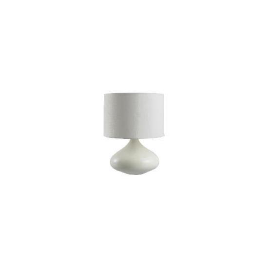 Tesco Ceramic Onion Lamp, Cream