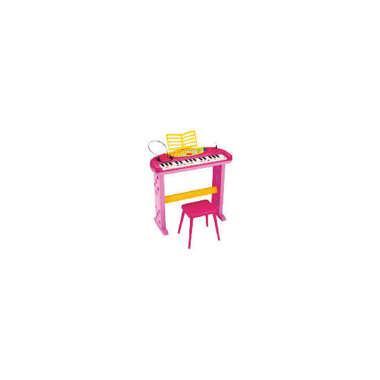 Bontempi Keyboard with Legs, Stool & Microphone Pink