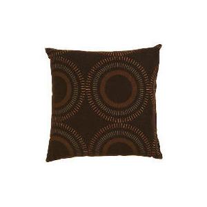 Photo of Tesco Printed Circle Cushion, Chocolate Cushions and Throw