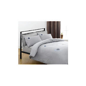 Photo of Tesco Neptunes Embroidered Duvet Set Double, Charcoal Bed Linen