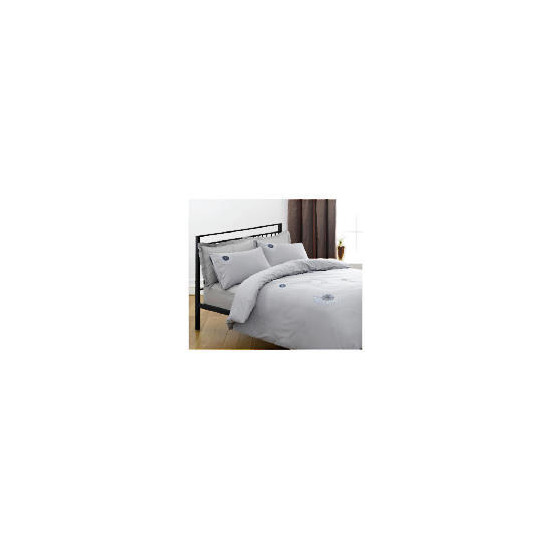 Tesco Neptunes Embroidered Duvet Set Double, Charcoal