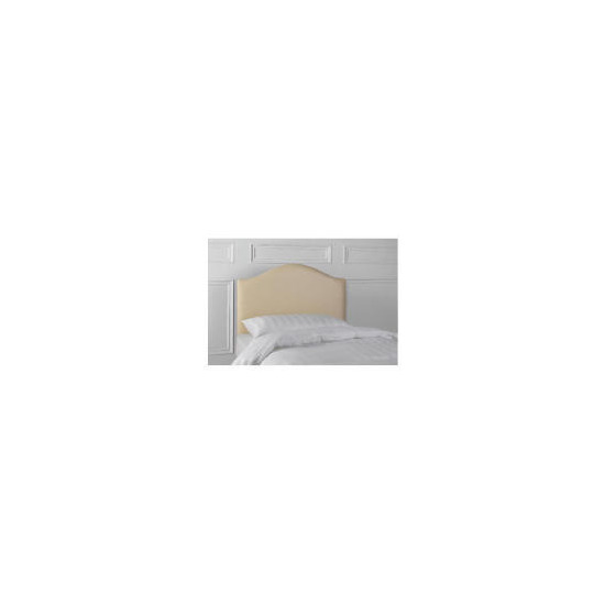 Laredo Double Faux Leather Headboard, Cream