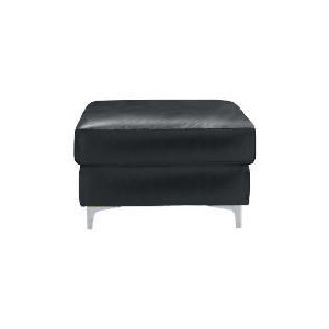 Photo of Westport Leather Footstool, Black Furniture