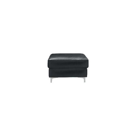 Westport Leather Footstool, Black