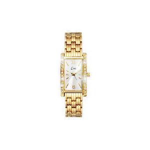 Photo of LIMIT LADIES GOLD RECTANGULAR DIAMONTE WATCH Jewellery Woman