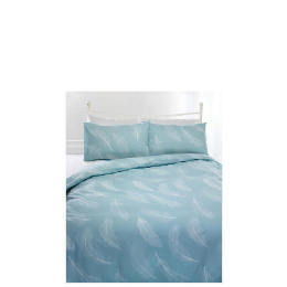 Tesco Feather Print Duvet Set Kingsize, Eau De Nil Reviews