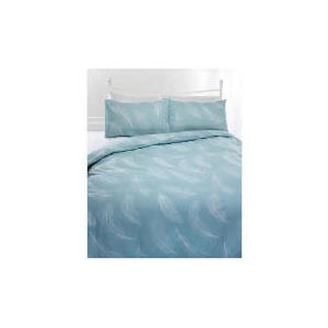 Photo of Tesco Feather Print Duvet Set Kingsize, EAU De Nil Bed Linen