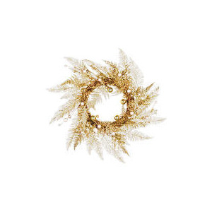 Photo of Tesco Finest Champagne Gold Wreath (Direct) Christmas