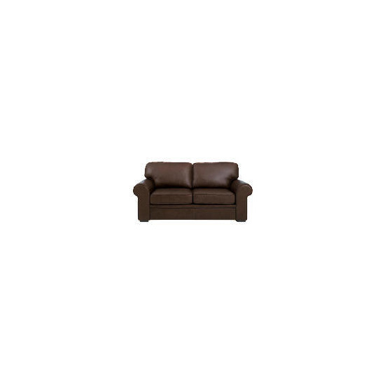 York Leather Sofabed, Chocolate