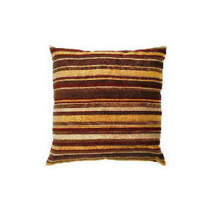 Photo of Tesco Chenille Stripe Cushion Gold/Red Furniture